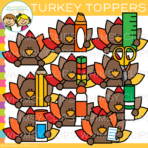 Turkey Toppers Clip Art