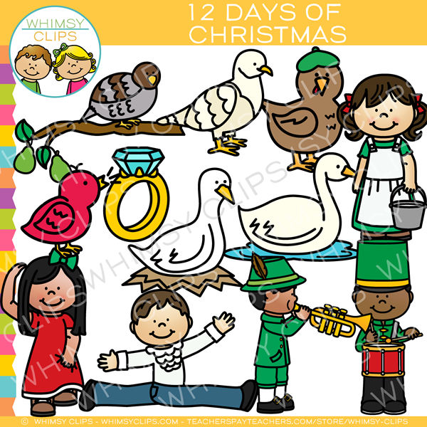 twelve days of christmas clip art images illustrations whimsy rh whimsyclips com 12 days of christmas clipart border Twelve Days of Christmas School
