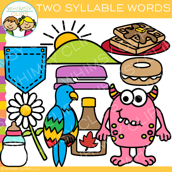 Two Syllable Words Clip Art