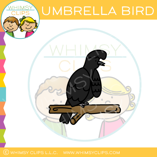 Umbrella Bird Clip Art