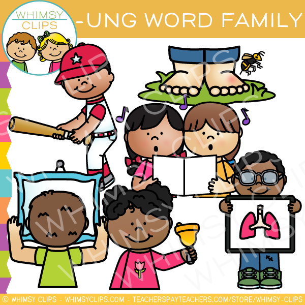 -UNG Word Family Clip Art