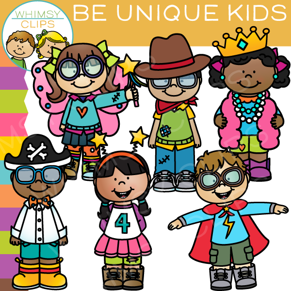 Unique Kids Clip Art