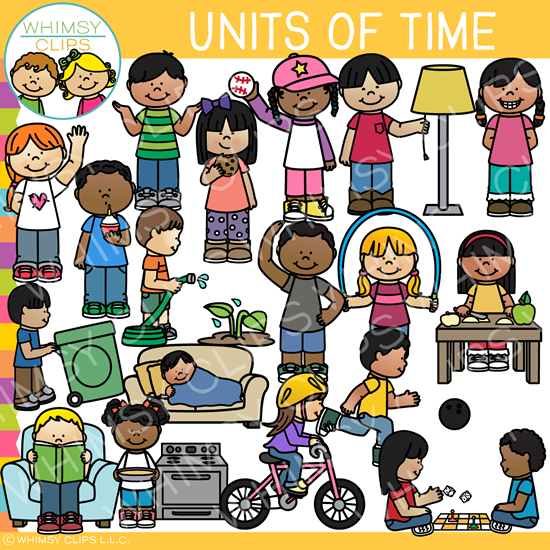 Units of Time Clip Art - One Second, One Minute, One Hour