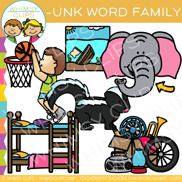 -UNK Word Family Clip Art