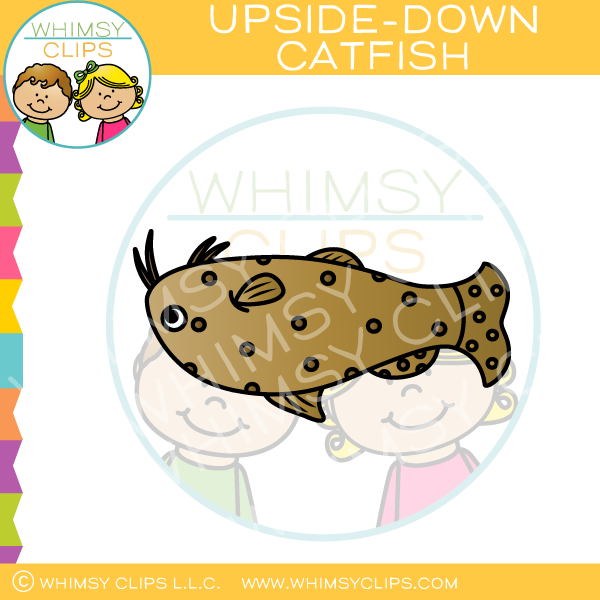 Upside Down Catfish Clip Art