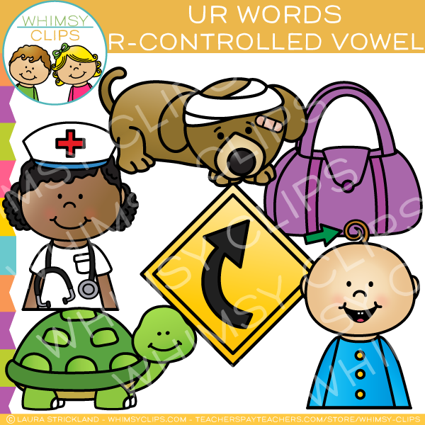 R-Controlled Clip Art - UR words