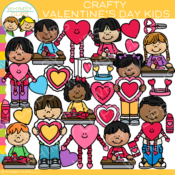 Crafty Valentine's Day Clip Art