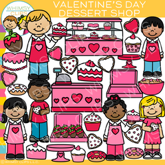 Valentine's Day Dessert Shop Clip Art