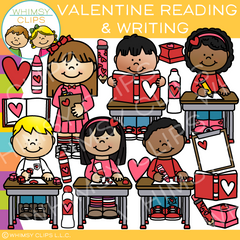 Valentine's Day Reading and Writing Clip Art