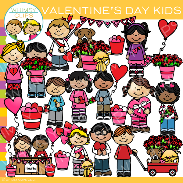 Cute Valentine's Day Kids Clip Art