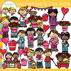 Valentine's Day Kids Clip Art