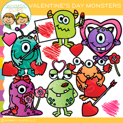 Valentine's Day Monster Clip Art