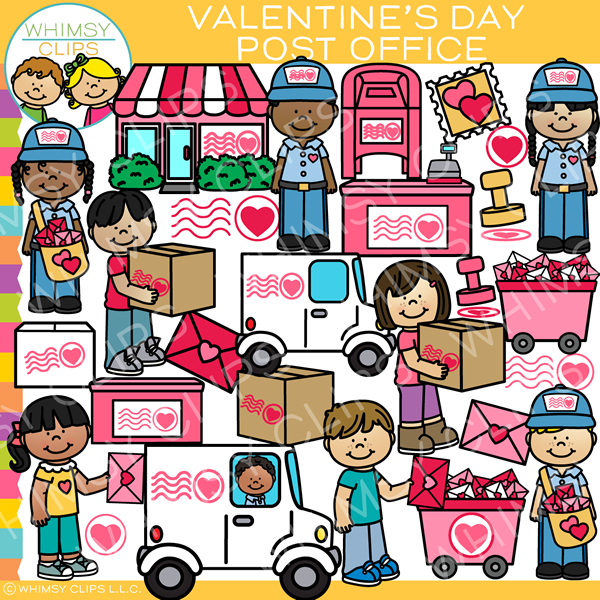 Valentine Post Office Clip Art