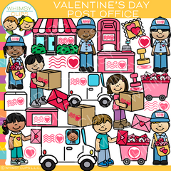 Valentine's Day Post Office Clip Art