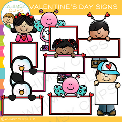Valentine's Day Signs Clip Art