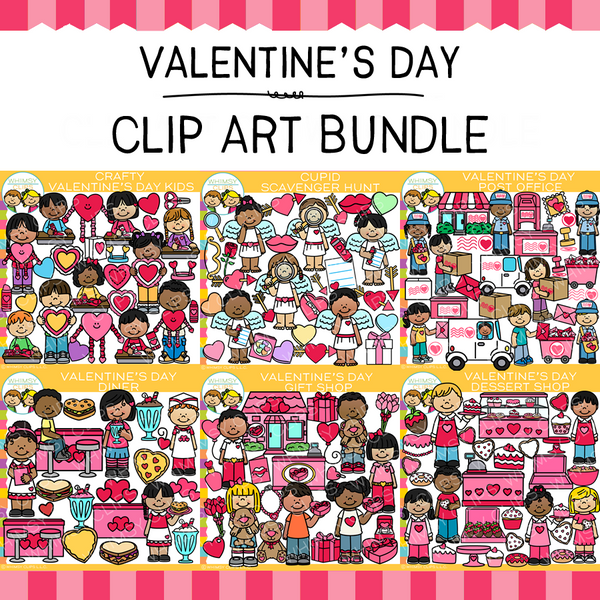 Little Bits of Whimsy Clips: Valentine's Day Clip Art GROWING Bundle