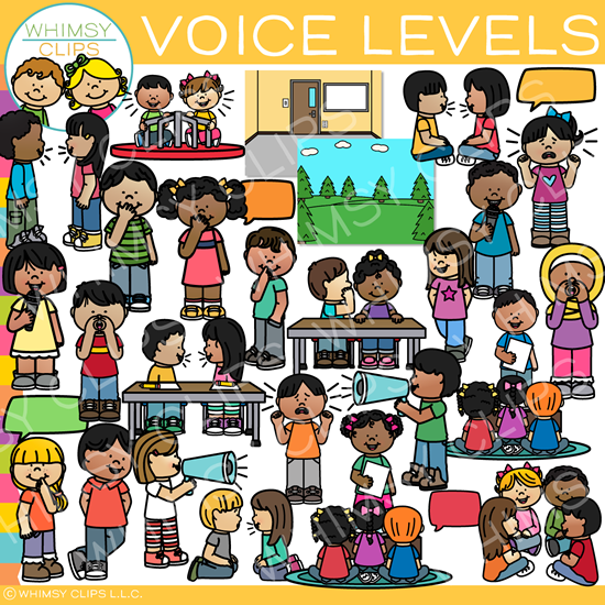 Kids Voice Levels Clip Art
