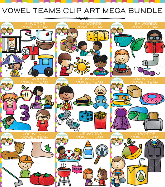 Vowel Teams Clip Art Mega Bundle