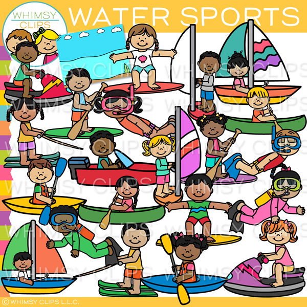 Kids Water Sports Clip Art