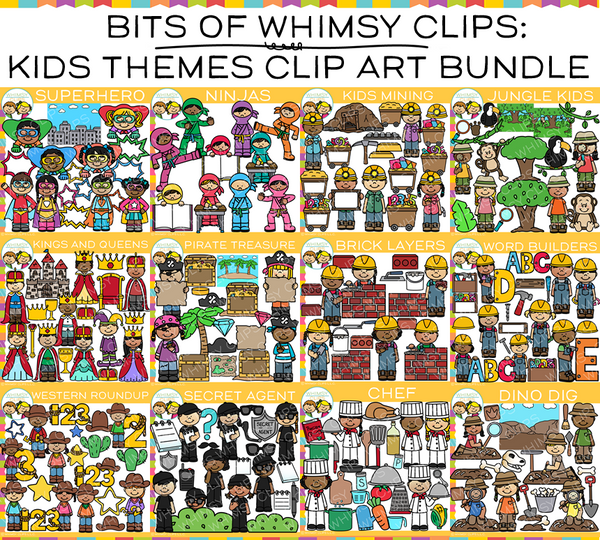 Bits of Whimsy Clips: Theme Clip Art  Bundle
