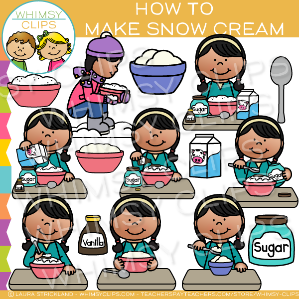 How to Make Snow Cream Clip Art