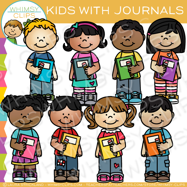 Kids School Journal Clip Art