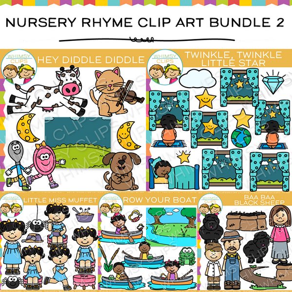 Nursery Rhyme Clip Art Bundle - Two