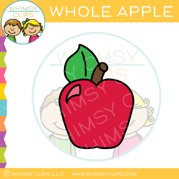 Whole Apple Clip Art