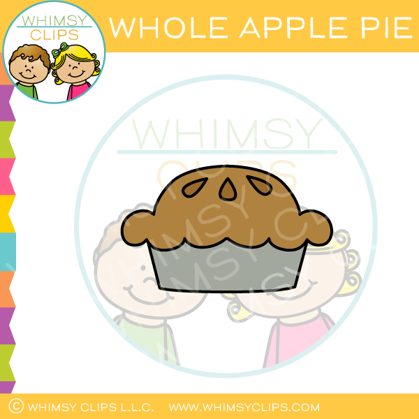 Whole Apple Pie Clip Art