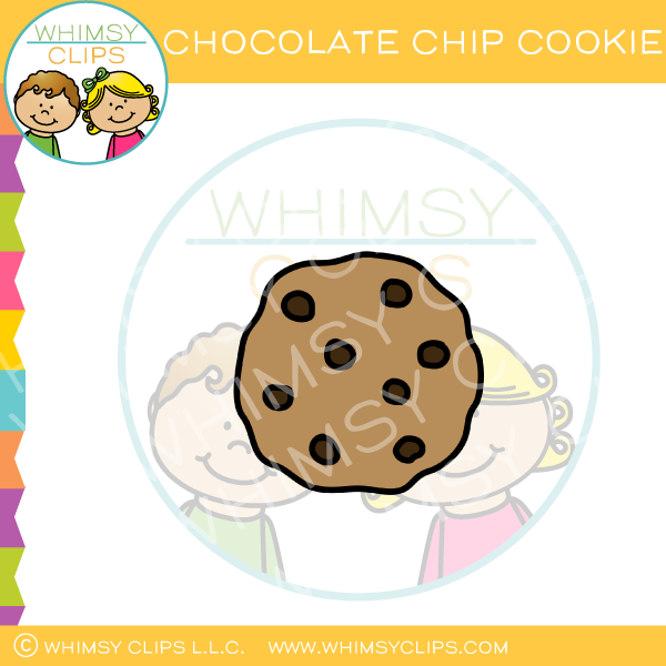 Whole Chocolate Chip Cookie Clip Art