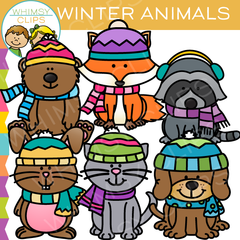 Winter Animals Clip Art