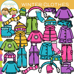 Winter Clothing Clip Art