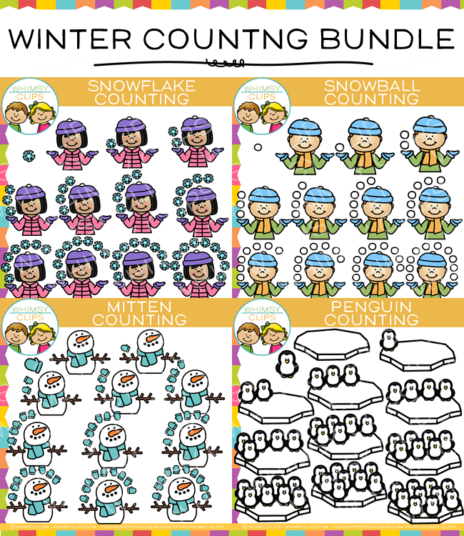 Winter Counting Clip Art