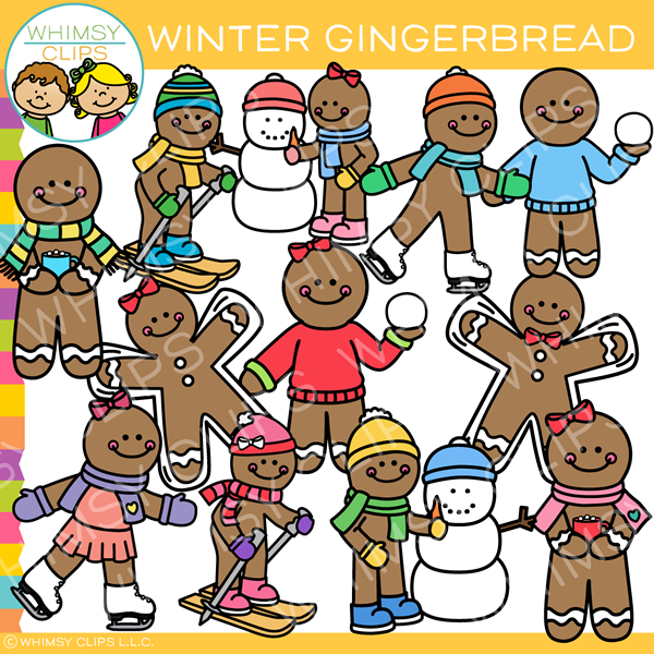 Gingerbread Winter Clip Art