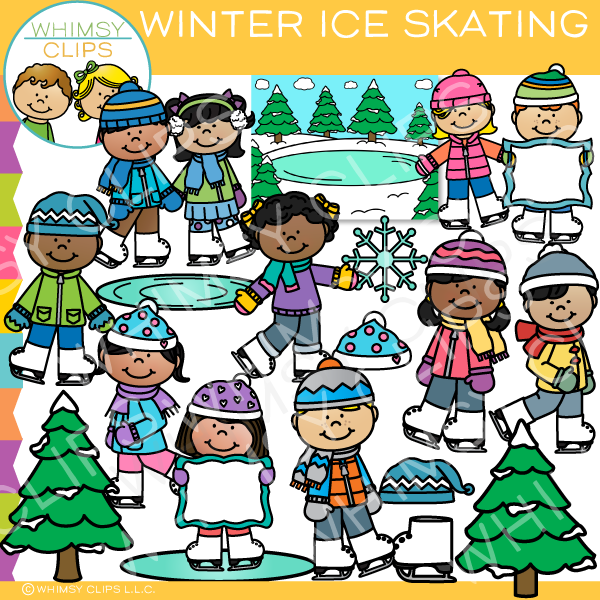 Winter Ice Skating Clip Art