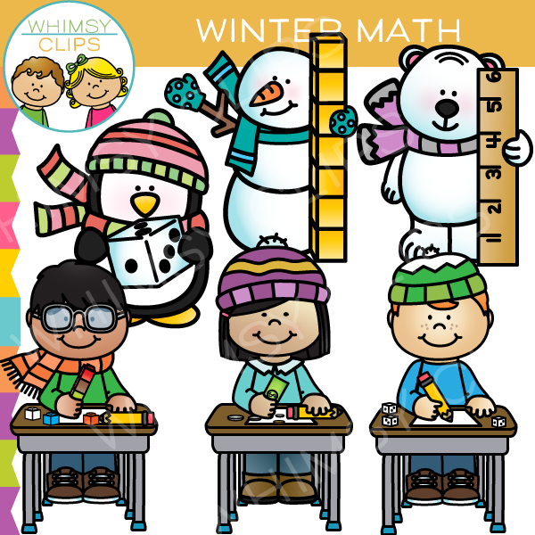 Winter Math Clip Art