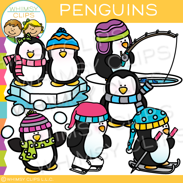 Cute Winter Penguin Clip Art