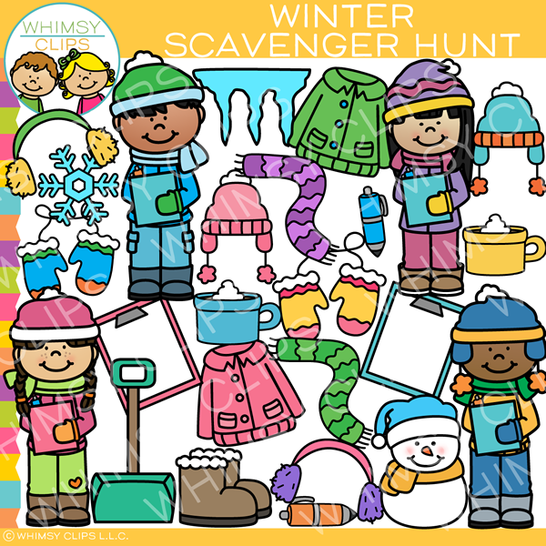 Winter Scavenger Hunt Clip Art
