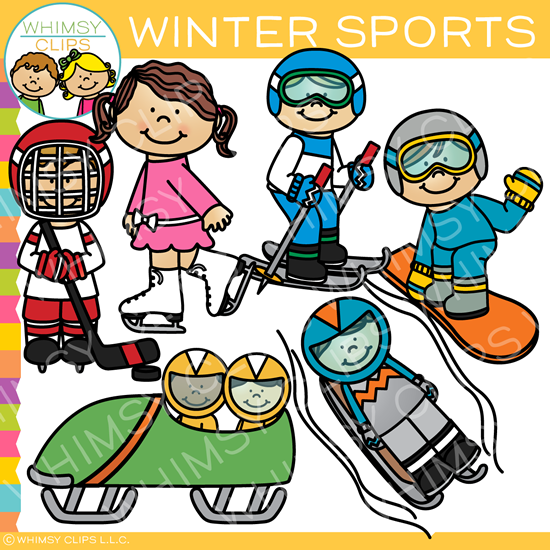 sports clip art images illustrations whimsy clips rh whimsyclips com winter sports cartoon clipart winter sports clipart free