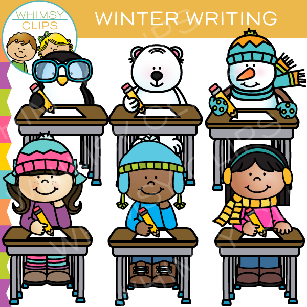 Winter Writing Clip Art