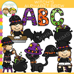 Witch's Alphabet Brew Clip Art