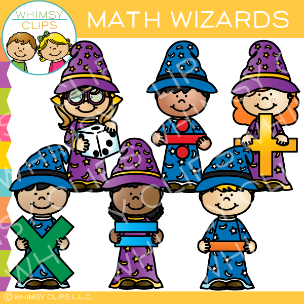 Math Wizards Clip Art , Images & Illustrations | Whimsy Clips