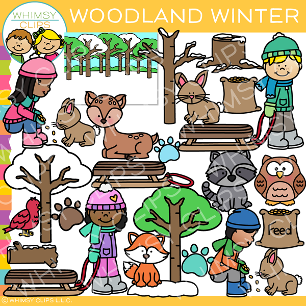 Woodland Winter Clip Art
