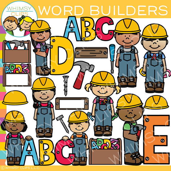 Word Builders Clip Art