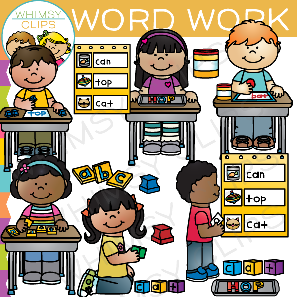 Word Work Clip Art , Images & Illustrations | Whimsy Clips