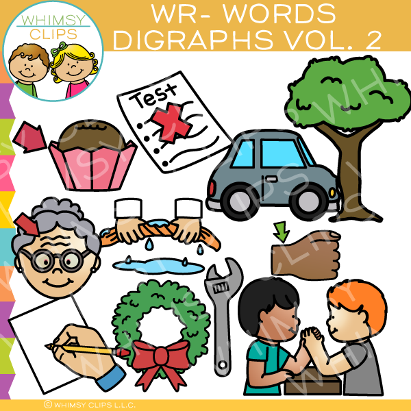 Beginning Wr-Words  Clip Art - Digraphs Volume Two