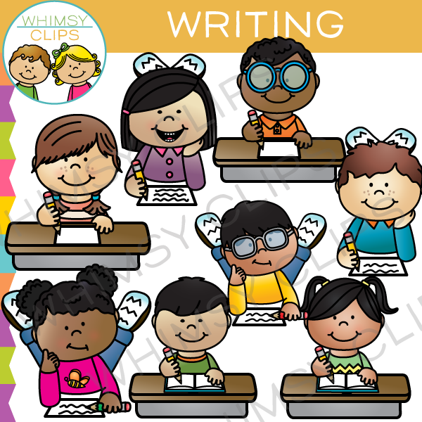 Writing Kids Clip Art