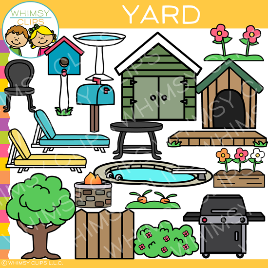 Pieces of a Yard Clip Art
