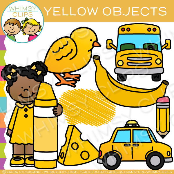 yellow color objects clip art   images   illustrations yellow crayon clipart Brown Crayon Clip Art