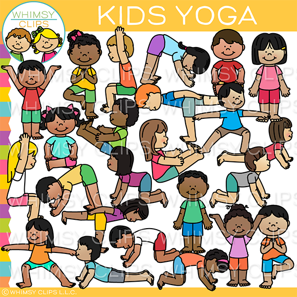 Yoga Kids Clip Art Images Illustrations Whimsy Clips